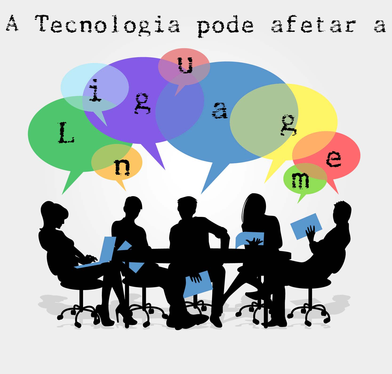 A tecnologia pode afetar a linguagem ao longo do tempo