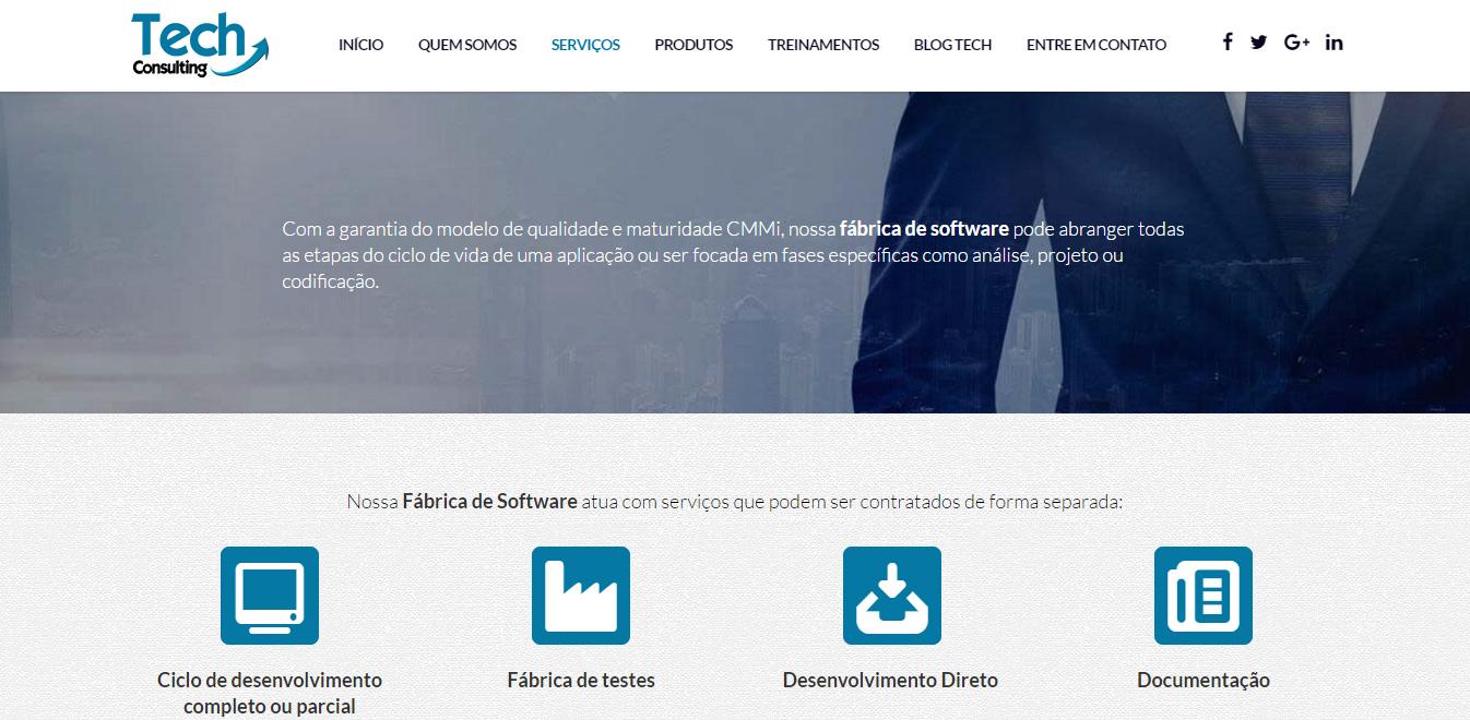 Portfolio Verbum Conteúdo - Cliente Tech Consulting